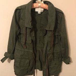 Bar III Military Jacket in army green